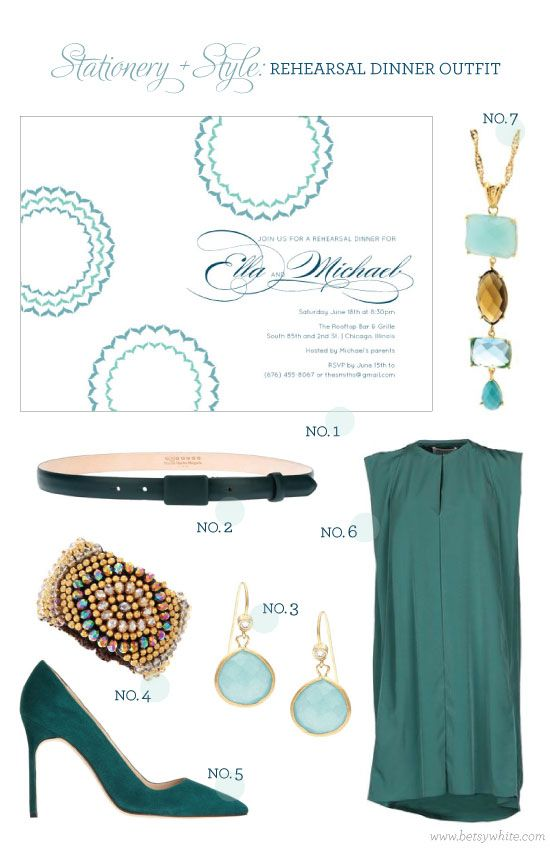 Stationery + Style: Rehearsal Dinner Outfit | Flights of Fancy