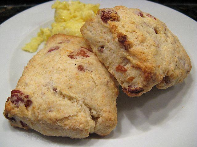 Cheddar Bacon Buttermilk Biscuits Recipe — Dishmaps