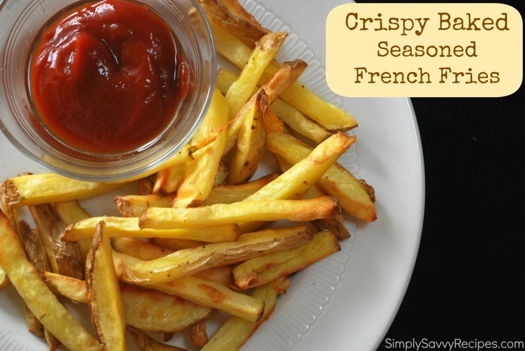 Crispy Baked Seasoned French Fries | Recipe
