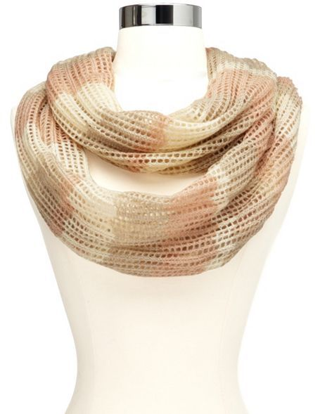 Open-Knit Chevron Infinity Scarf: Charlotte Russe