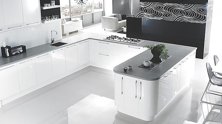 High Gloss White Kitchen Cabinet Doors Fronts Kitchens Images