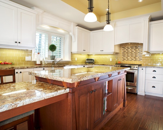 yellow subway tile backsplash homes pinterest
