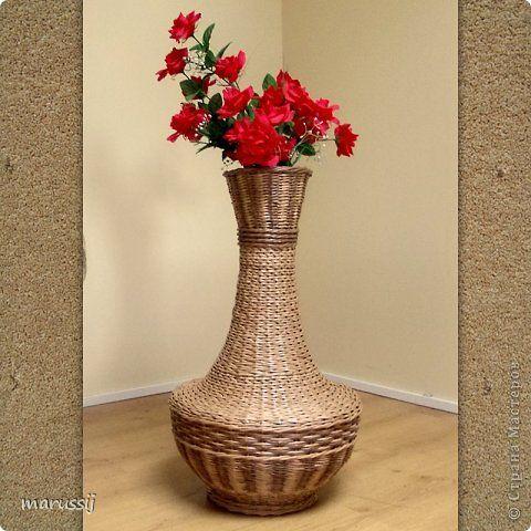 Как сделать вазу из газеты
