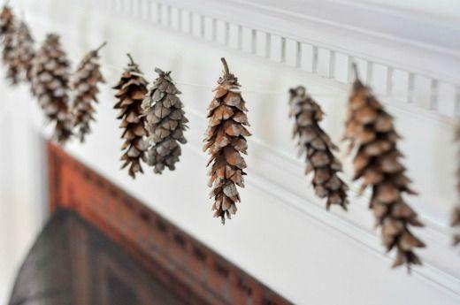 Natural winter decor