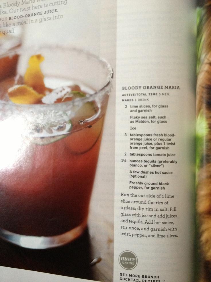 Bloody orange Maria courtesy of Martha Stewart Living. Yum