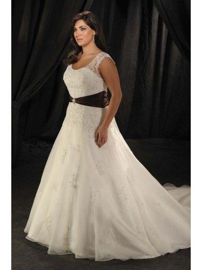 Bride square beading plus size wedding dress wedding gown bridal dress