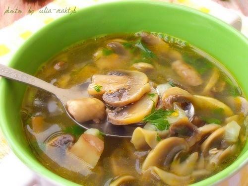 Суп с грибами рецепт с фото пошагово