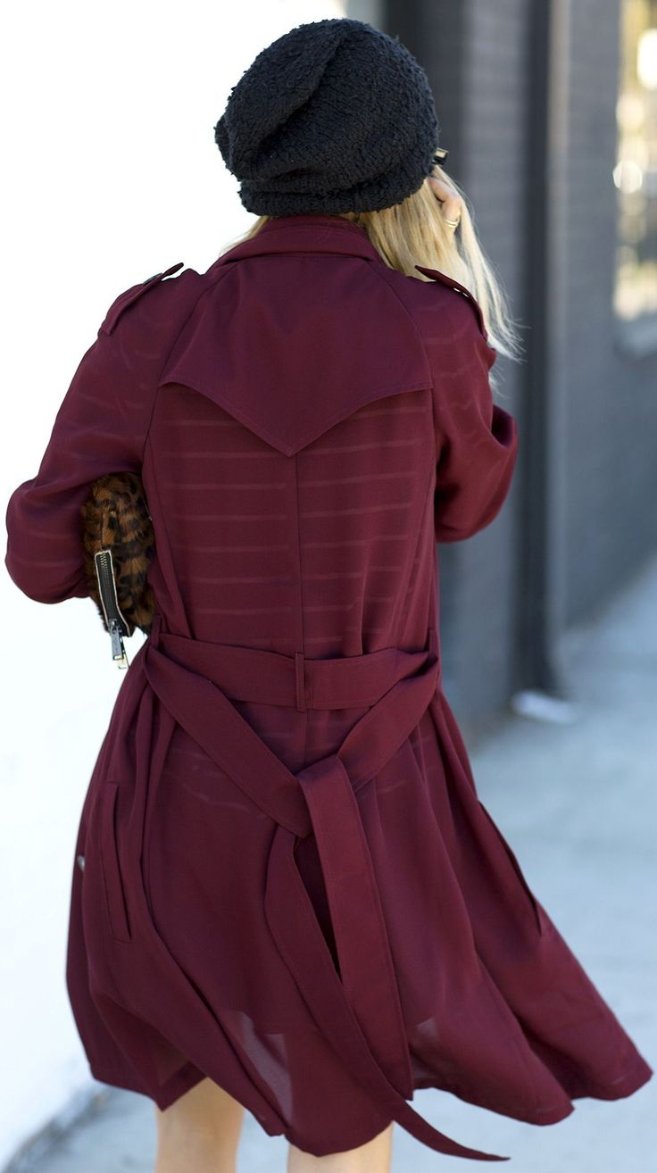 Burgundy Trench lovely colours