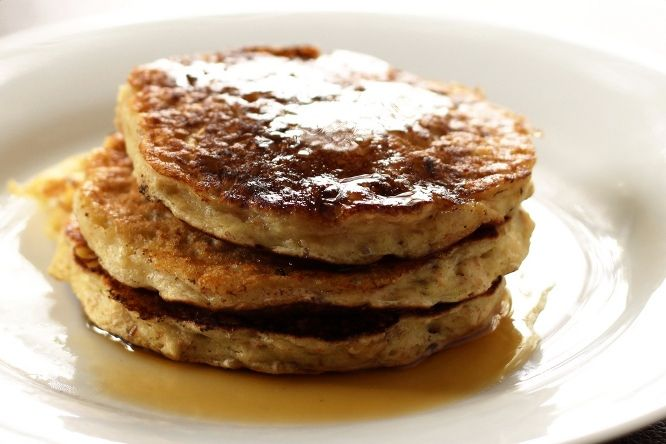 Healthy Oatmeal Pancakes | An Apple a Day Keeps the Dr. Away | Pinter ...