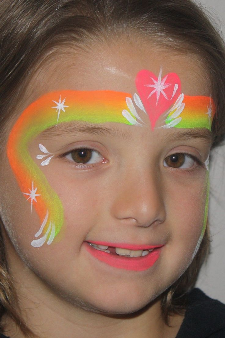 Face Painting Rainbow Cakes