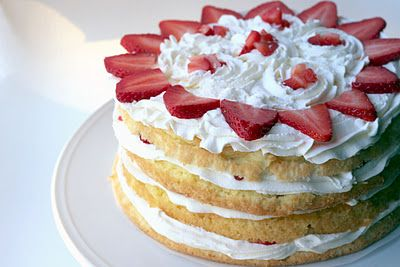 Strawberry Chiffon Cake | Cakes - Take 2 | Pinterest