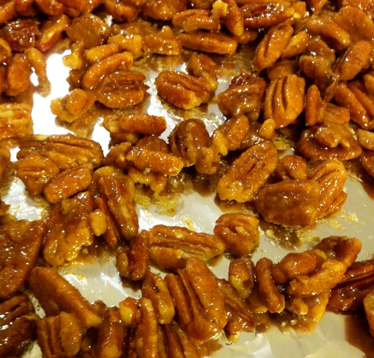 Candied pecans for my salad | Salads and Dressings | Pinterest