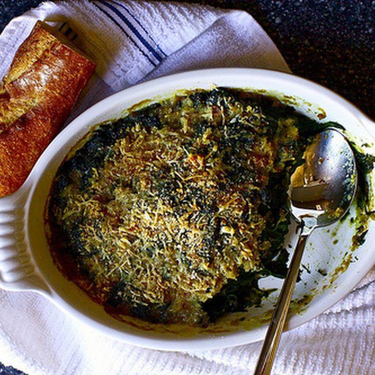 The Best Baked Spinach | A - Les recettes végétariennes | Pinterest