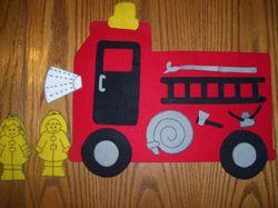 Wheels on the Truck Felt Board