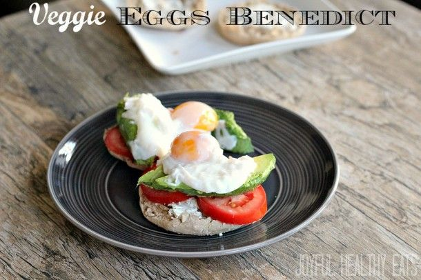 Veggie Eggs Benedict, this is awesome and super easy to make! # ...