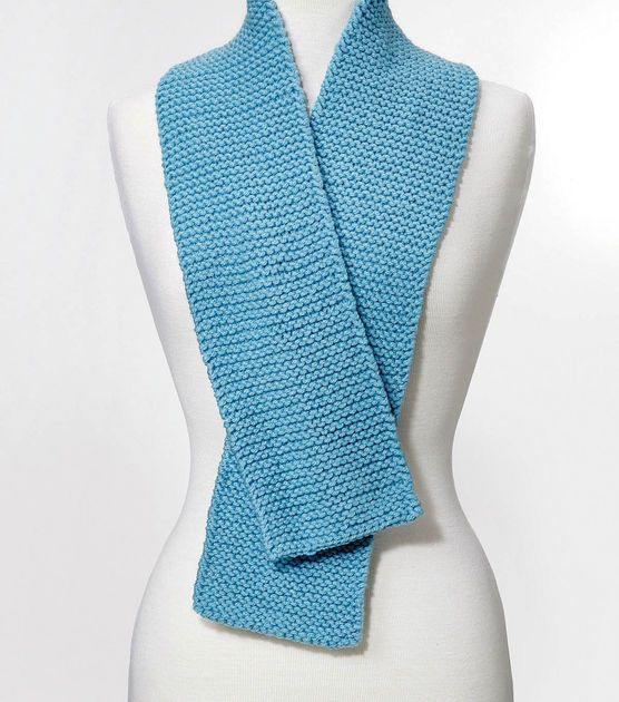 simple knit scarf knitting