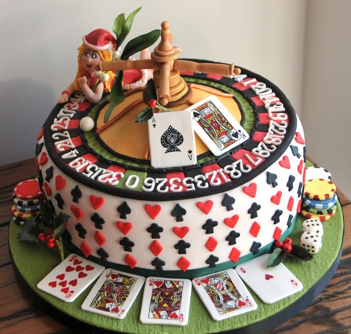 торт покер фото