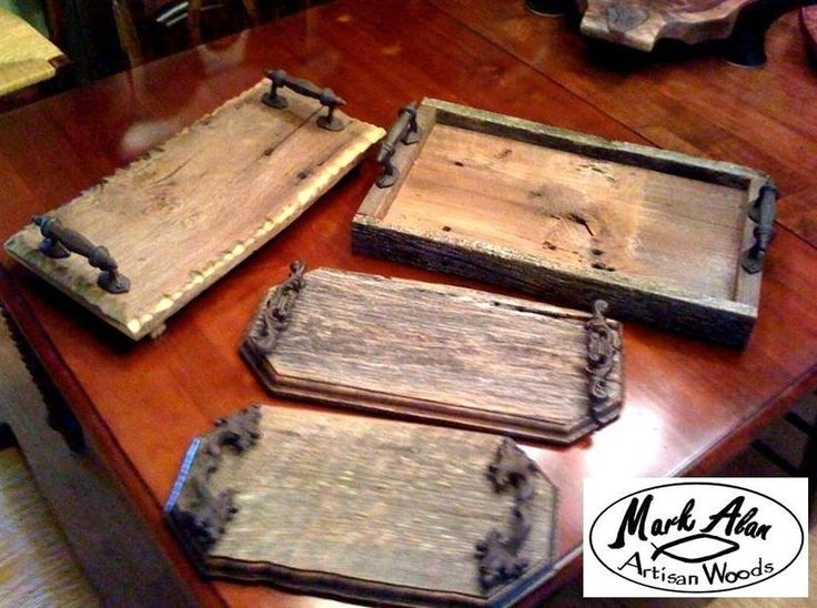 Trays made of barn wood things i want to make pinterest for Making craft projects from old barn wood