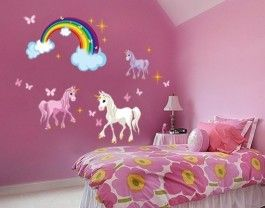 GIRLS CHILDREN unicorn rainbow bedroom Ideas for Girls