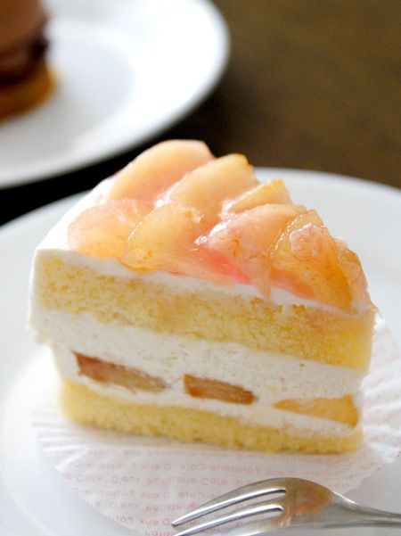 Peach shortcake | Beautiful Pâtisserie | Pinterest