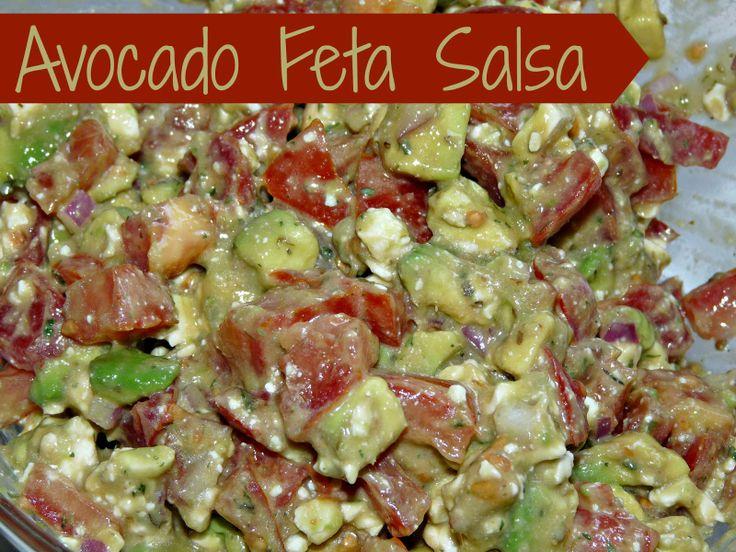 Avocado Feta Salsa | sweet summertime | Pinterest