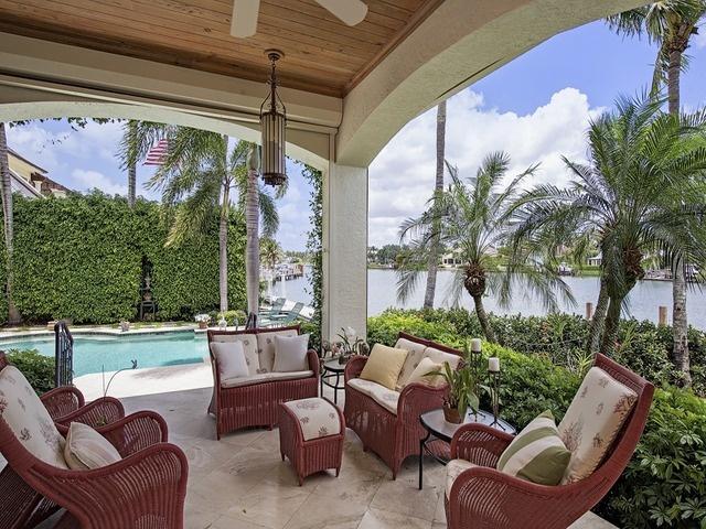 Lanai Port Royal Naples Florida Deck Decor Ideas