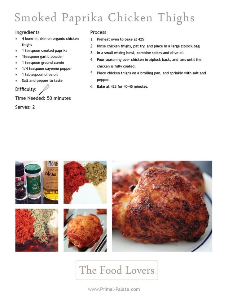 Smoked Paprika Chicken Thighs | Food - Main | Pinterest