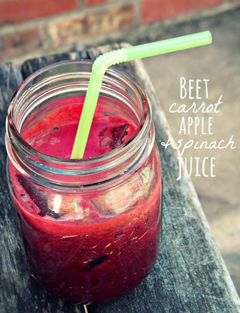 Beet, Carrot, Apple, & Spinach Juice (Reboot version: 1 apple, 2 beets ...