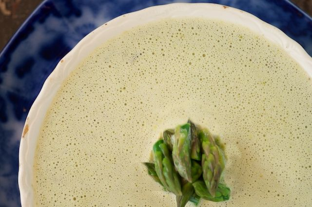 Creamy Asparagus Soup ...May make dairy free by using Earth Balance ...
