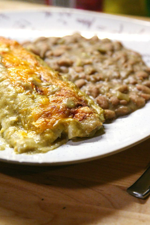 Creamy Chicken Enchiladas Verdes | Food and Libations | Pinterest