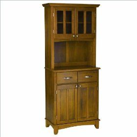 Home Styles Wood Buffet with 2-Door Panel Hutch in Cottage Oak