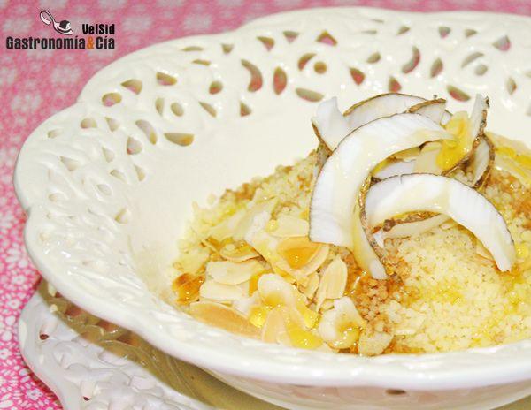 Cuscus dulce de almendra y coco