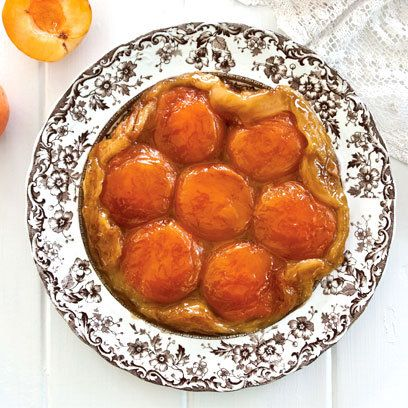 Apricot tarte tatin recipe. For the full recipe, click the picture or ...