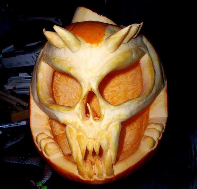 Skull pumpkin carving ☆ craft ideas pinterest