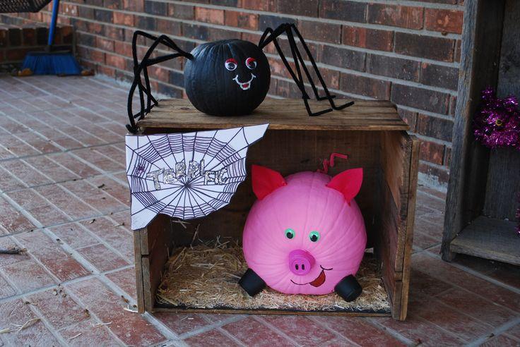 Charlotte's Web Book Character Pumpkin