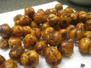 Sweet and Salty Roasted Chick Peas | food | Pinterest