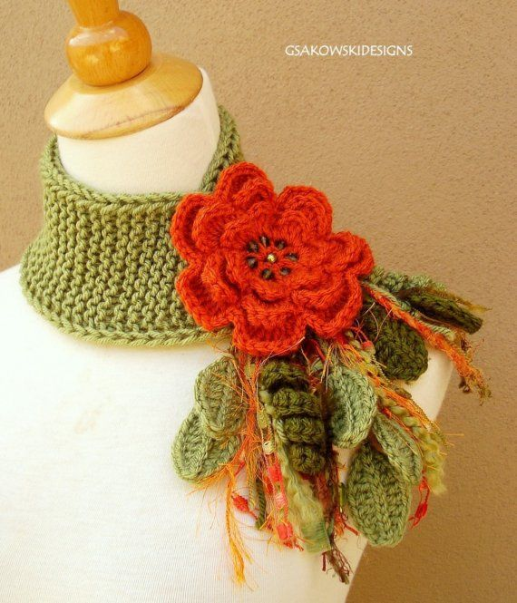 Crochet Fantasy : ... Flower Scarflette Crochet Fantasy under construction P