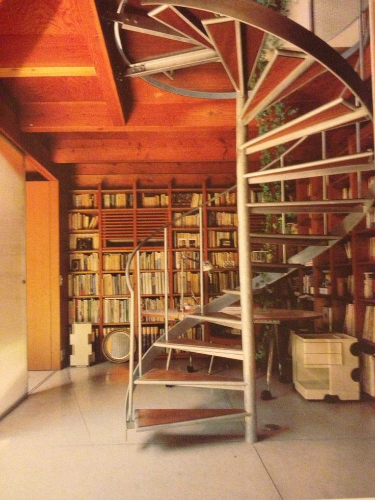 Library Spiral Staircase Tiny House Oh For A Book And A