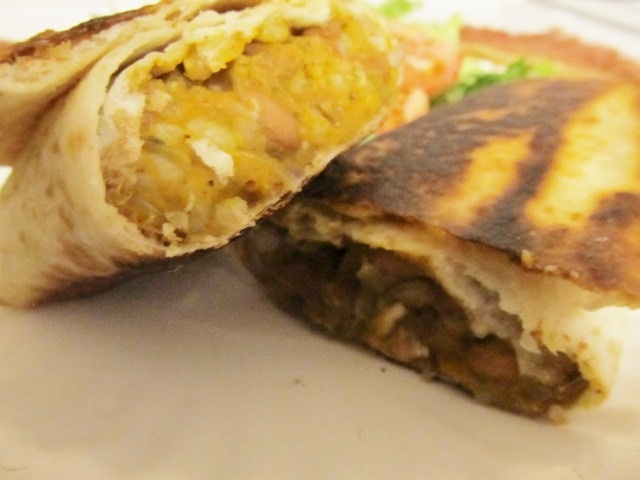 Pumpkin, Rice and Bean Burritos - quick and healthy weeknight dinner!