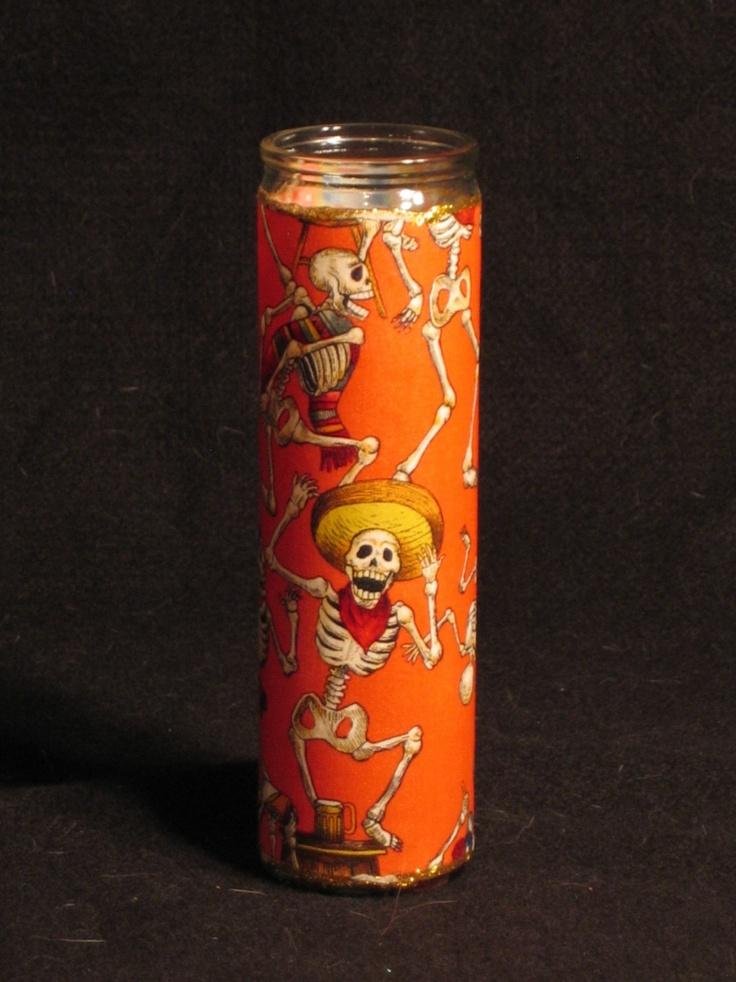 Day of the Dead Dias de los Muertos candle.   Dia de los ...