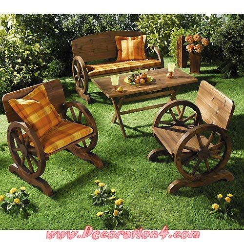 wagon wheel outdoor furniture Outdoor Seating