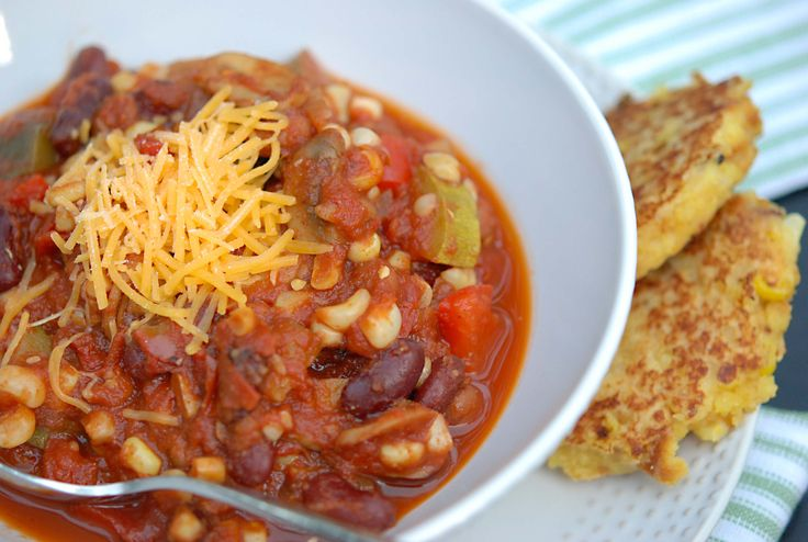 Veggie Chili by salad-in-a-jar.com   Soups & Stews   Pinterest