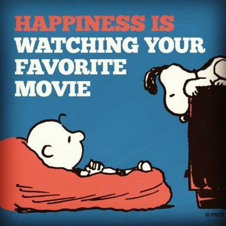 Snoopy Watching Movie