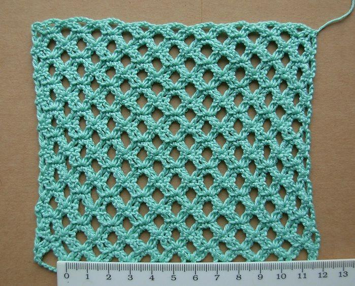 interesting stitch - charted Crochet - Stitches Pinterest
