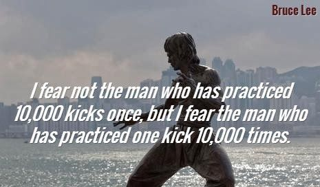 Bruce Lee Quote on PracticeBruce Lee Quotes On Practice
