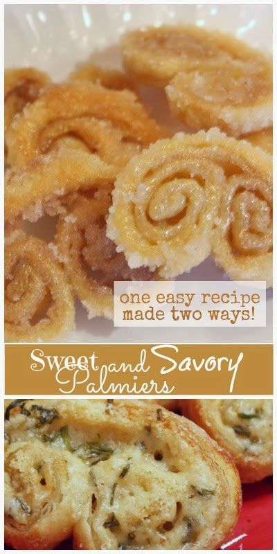 SWEET AND SAVORY PALMIERS... ONE RECIPE DONE 2 EASY WAYS ...