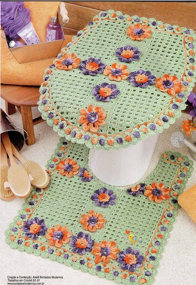 Decoracion De Baños Tejidos A Crochet: Crochet: Juegos de Baño en Pinterest