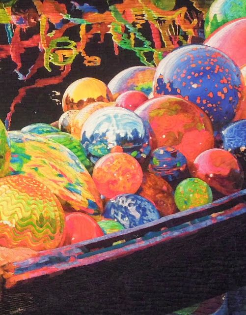 Close-up, Chihuly's Gondola by Melissa Sobotka . My favorite prize-winner from Houston Quilt Festival!