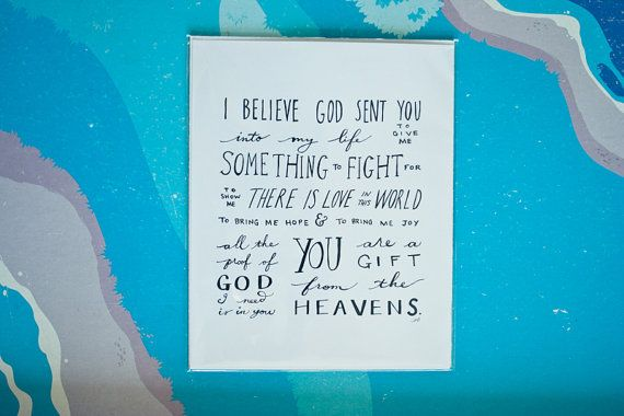 Baby Boy Gift Quotes : Gift from heaven baby quote girl boy