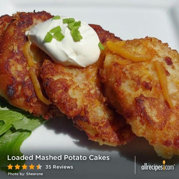 Loaded Mashed Potato Cakes | Side Dish & Vege Recipes | Pinterest